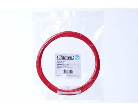 Sample PLA - red (1,75 mm; 10 m)