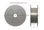 PLA - copper (1,75 mm; 2 kg)