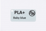 "Sample PLA+ - ""Baby Blue"" (1,75 mm; 10 m)"