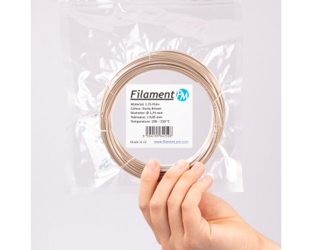 """Sample PLA+ """"Dusty Brown"""" (1,75 mm; 10 m)"""