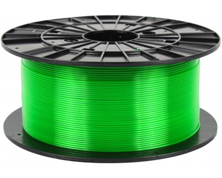 PETG - transparent green (1,75 mm; 1 kg)